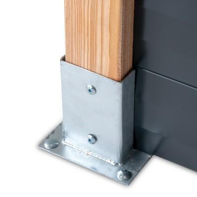 lame acier gris 7016 pour cl ture 1760 mm farel. Black Bedroom Furniture Sets. Home Design Ideas